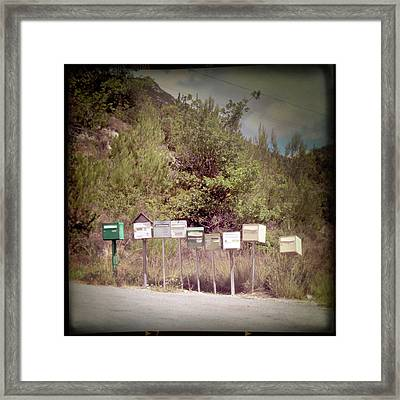 Retro Mailboxes Framed Print by Marcel ter Bekke