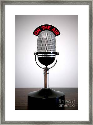 Retro Microphone  Framed Print by Richard Thomas