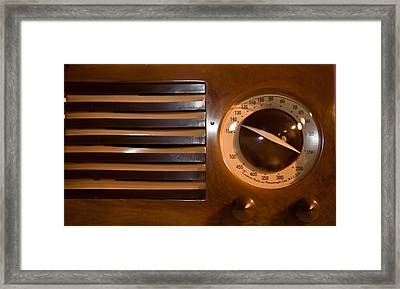 Retro Radio With Round Dial Framed Print by Matthew Bamberg