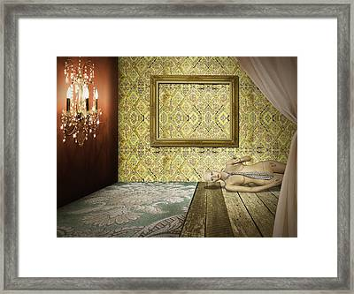 Retro Room Interior Framed Print