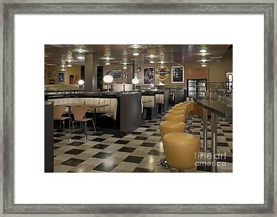 Retro Style Diner Framed Print by Robert Pisano