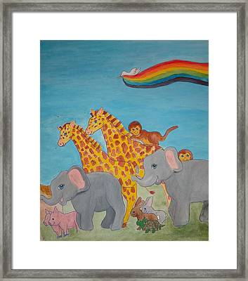 Return From The Ark Framed Print by Heather Walker