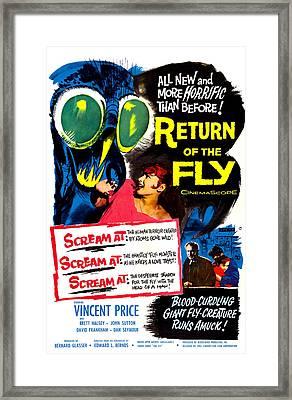 Return Of The Fly, Top Right Danielle Framed Print by Everett