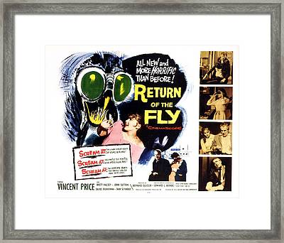 Return Of The Fly, Vincent Price, Ed Framed Print by Everett