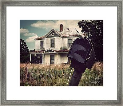 Return To Sender Framed Print by Jane Brack