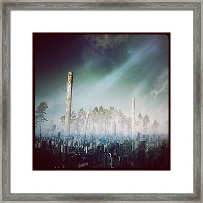 Return To The Trees! #trees #city Framed Print