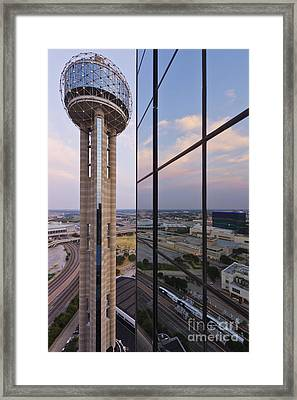 Reunion Tower Framed Print by Jeremy Woodhouse