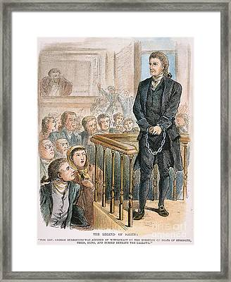 Rev. George Burroughs Framed Print