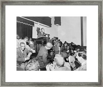 Rev. Martin Luther King, Jr., Speaking Framed Print