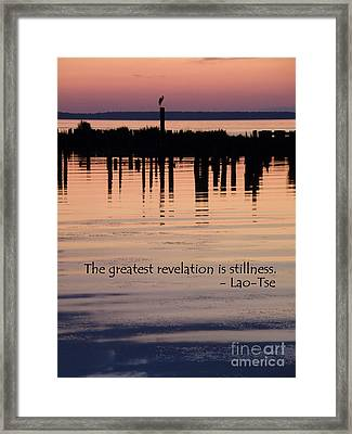 Framed Print featuring the photograph Revelation by Lainie Wrightson