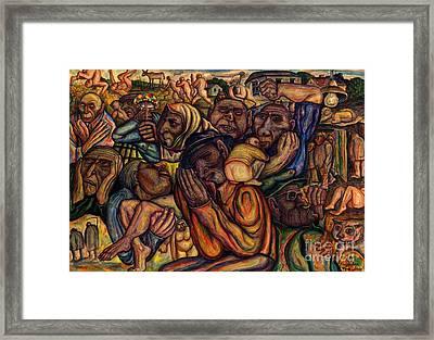 Revolt Of The Poor Framed Print by Vladimir Feoktistov