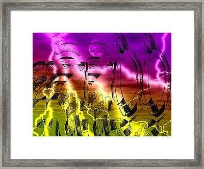 Revolution Framed Print by Beto Machado