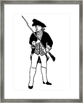Revolutionary War Militia Man Framed Print by Susan Carella