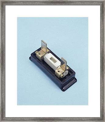 Rewirable Electrical Fuse Framed Print by Sheila Terry