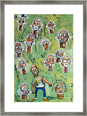 reworked PAPER ARTISTS HEADS Framed Print