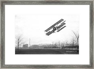 Rex Smith Biplane 1912 Framed Print