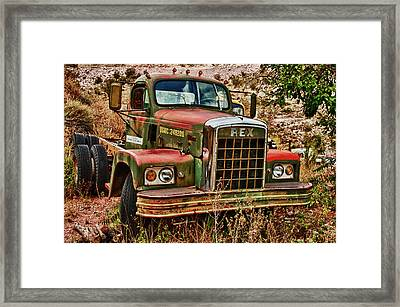 Framed Print featuring the photograph Rex The Truck by James Bethanis