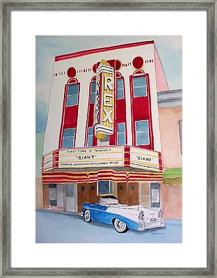 Framed Print featuring the painting Rex Theater by Richard Willows