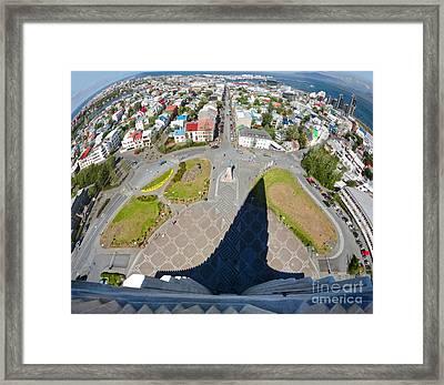 Reykjavik Iceland - Aerial View Framed Print by Gregory Dyer