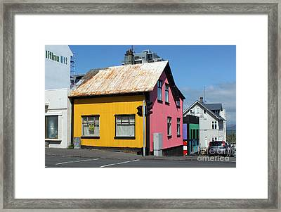 Reykjavik Iceland - Colorful House Framed Print by Gregory Dyer
