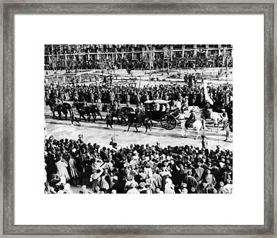 Reza Shah Pahlavis Coronation Framed Print by Everett