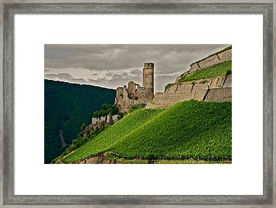 Rhine River Medieval Castle Framed Print by Kirsten Giving