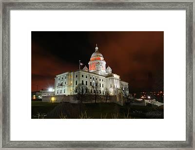 Rhode Island Capital Building Framed Print
