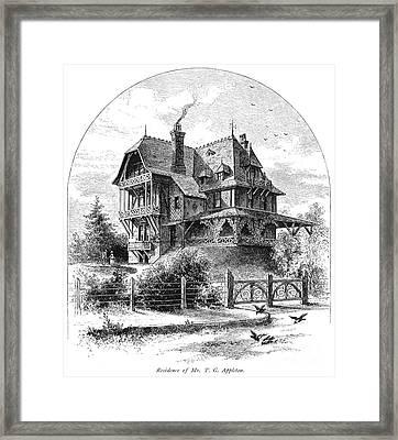 Rhode Island: Villa, 1876 Framed Print