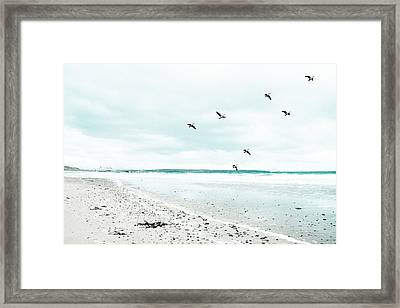 Rhosneigr Beach Framed Print by Georgia Fowler