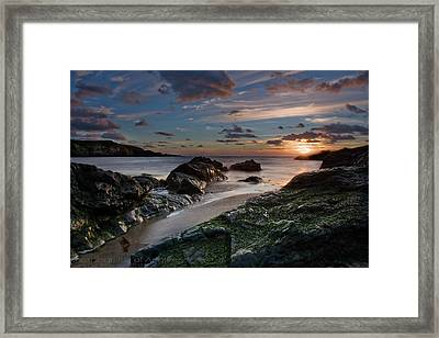 Framed Print featuring the photograph Rhosneigr Sunset  by Beverly Cash