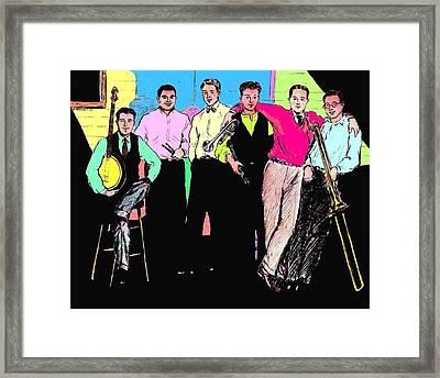 Rhythm Jugglers Color Framed Print by Mel Thompson