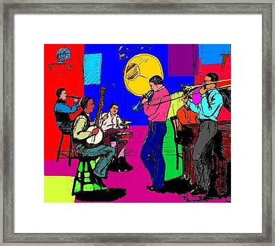 Rhythm Jugglers Recording Framed Print by Mel Thompson