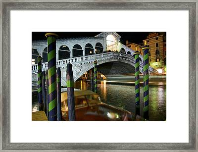 Rialto Bridge Over The Grand Canal Framed Print by Jim Richardson