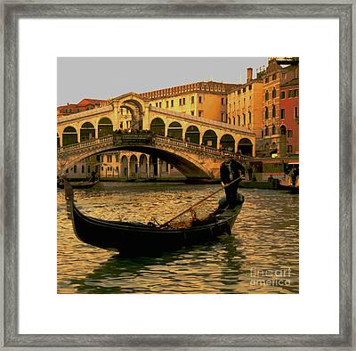 Rialto Bridge Venice Framed Print