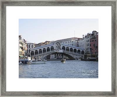 Rialto. Venice Framed Print by Bernard Jaubert