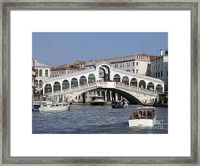 Rialto.venice Framed Print