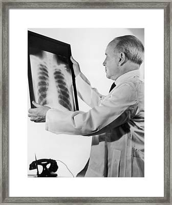 Rib Cage Framed Print by Fpg