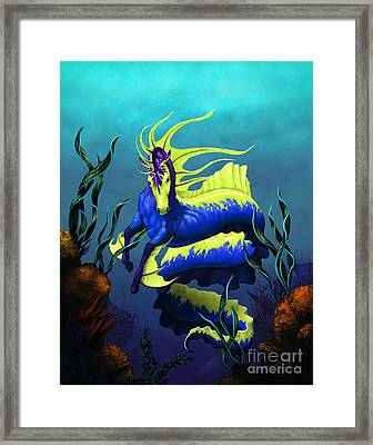 Ribbon Hippocampus Framed Print by Stanley Morrison