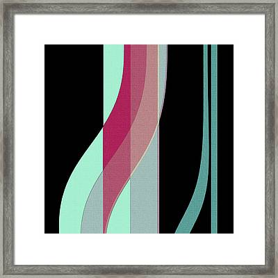 Ribbons Framed Print by Bonnie Bruno