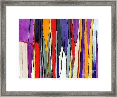 Ribbons Of Light Framed Print