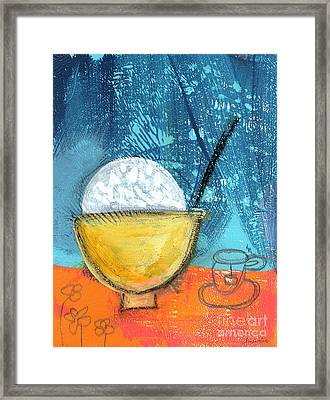 Rice And Tea Framed Print by Linda Woods