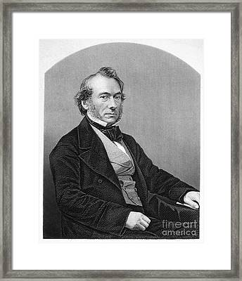 Richard Cobden (1804-1865). /nenglish Politician And Economist. Steel Engraving, English, 19th Century Framed Print by Granger