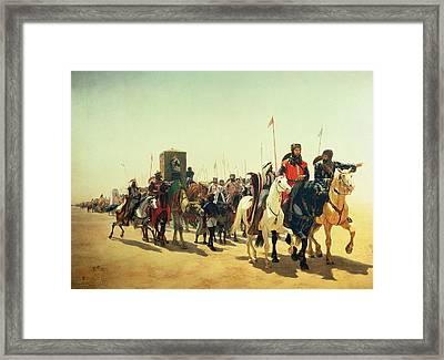 Richard Coeur De Lion On His Way To Jerusalem Framed Print by James William Glass