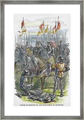 Richard IIi At Bosworth Framed Print by Granger
