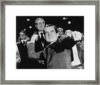 Richard Nixon (1913-1994) Framed Print