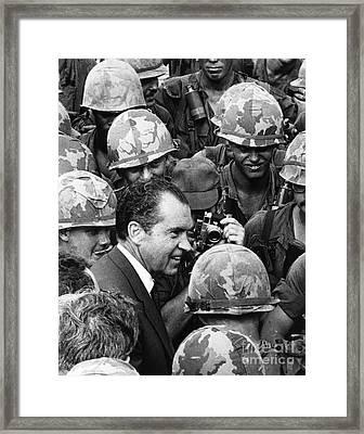 Richard Nixon, 37th American President Framed Print by Photo Researchers