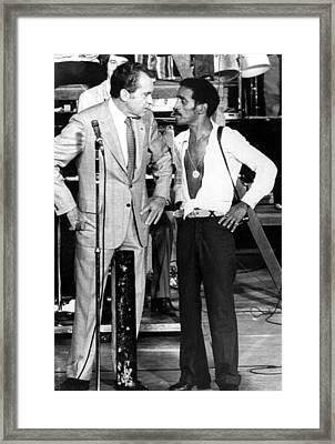 Richard Nixon And Sammy Davis, Jr Framed Print by Everett