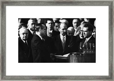Richard Nixon First Vice Presidential Framed Print by Everett