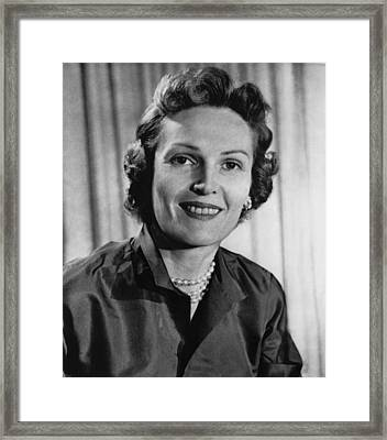 Richard Nixon.  Future First Lady Framed Print by Everett