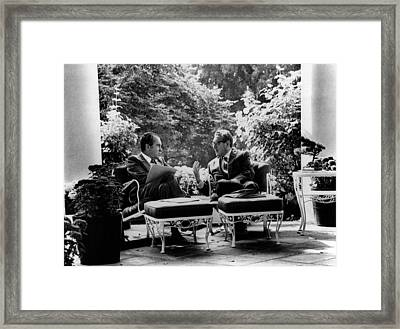 Richard Nixon, Henry Kissinger Framed Print by Everett